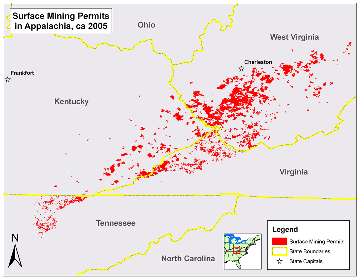 An analysis of the coal extraction process mountaintop removal mining mtr